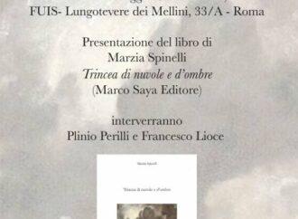 """TRINCEA DI NUVOLE E D'OMBRE"""" DI MARZIA SPINELLI, PRESENTAZIONE ALLA FUIS, 30 MAGGIO 2019"""